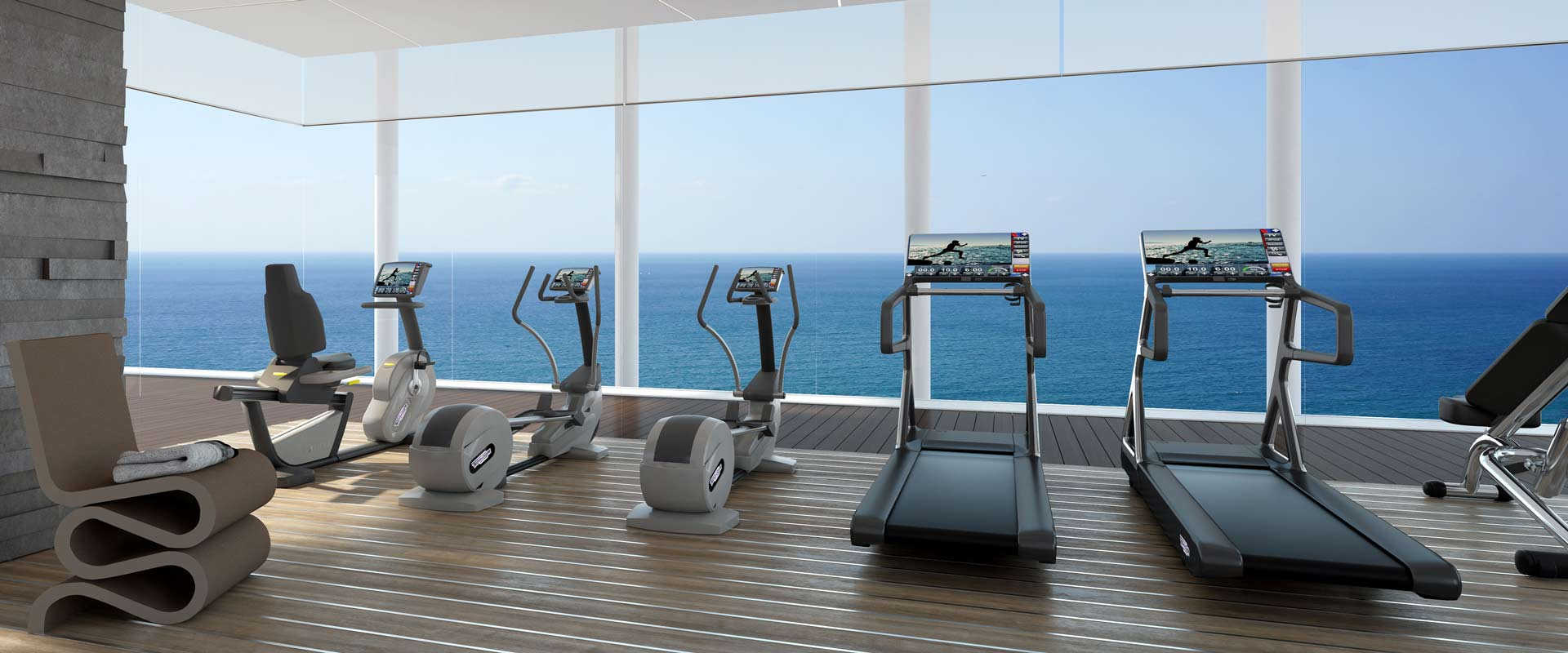 Gimnasio exclusivo del David Promenade Residences